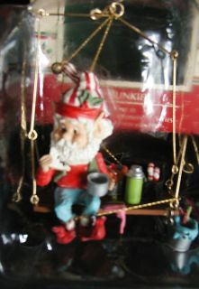 Bunkie Wee Tree Trimmers Enesco Christmas Ornaments Painter Elf North