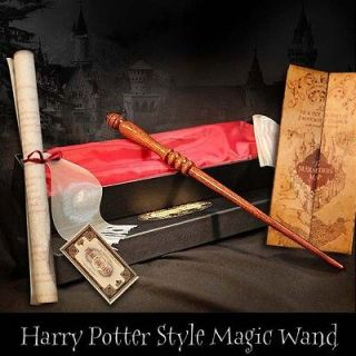 Harry Potter Style REAL MAGIC WAND! + Marauders Map +sm Hogwarts