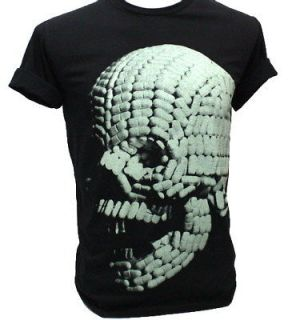 SKULL Drug Pills Retro Art Dj Party T Shirt daft punk L