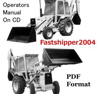 Ford Tractors Backhoe Loader 555A 555 A Operators Digger Operator