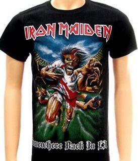Iron Maiden Rock The Trooper Heavy Metal T shirt Sz M Hard Black