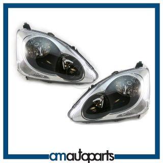 Hatchback Models Headlights Headlamps Pair Set (Fits Honda Civic