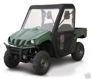 KAWASAKI MULE 600 / 610 FULL CAB ENCLOSURE BLACK BY QUAD GEAR UTV SIDE