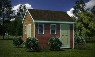 12 x 14 Storage Shed Plans Gable Roof Step By Step How To Build Guide