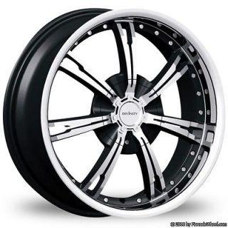 17 Inch 4x100 4x4.5 Black Divinity Racing D60 Wheels Rims 4 Lug Honda