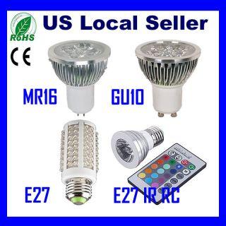 7W GU10 MR16 E27 RGB Energy Saving Spot High Power LED Light Lamp Bulb