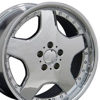 18 8/9 Chrome AMG Wheels Set of 4 Rims Fit Mercedes C E S Class SLK
