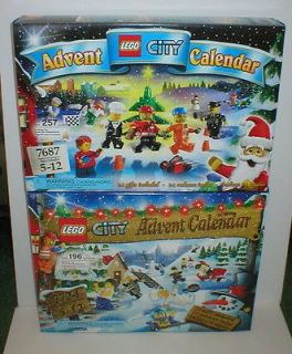 Lot of 2 LEGO CITY ADVENT CALENDARS 7687 & 7724 Factory Sealed  New in