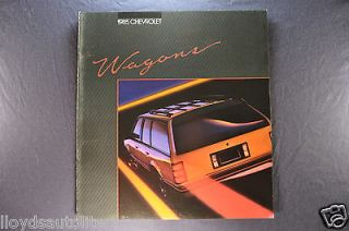 1985 Chevrolet Station Wagon Brochure Caprice Celebrity Cavalier