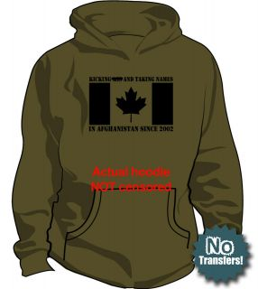 CANADA in AFGH Canadian forces Army Military New Hoodie