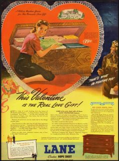 1944 Vintage magazine ad for Lane Cedar Hope Chest (092012)