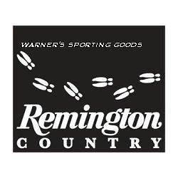Remington Country Deer Tracks White Vinyl Decal
