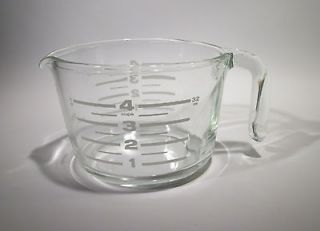 Pyrex 1 Quart 32 Oz Heavy Glass Measuring Pitcher Cup RARE White Font