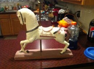 VINTAGE AUSTIN PROD INC 1981 CAROUSEL HORSE SCULPTURE Only One On