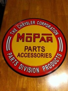 VINTAGE AUTO TRUCK MOPAR PARTS ACCESSORIES CHRYSLER PLYMOUTH TIN SIGN