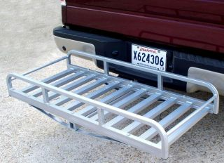 Auto Truck SUV Hitch and Ride Chrome Cargo Carrier Rack