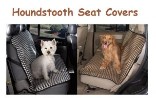 HOUNDSTOOTH CAR SEAT COVERS for Bench Seats   FREE SHIP in The USA