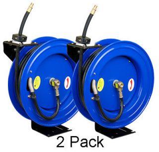 Pneumatic CP3888 3/8 x 50 300 PSI Air Compressor Hose Reel   2 Pack