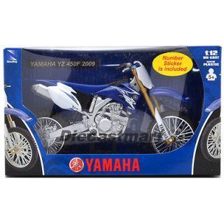 NEWRAY 1:12 YAMAHA 2009 YZ450F DIRT BIKE MOTORCYCLE BLU