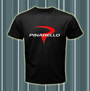Pinarello Sport Bike Logos Black T shirt tee size S 2XL