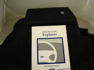 EXPLORER OWNERS MANUAL & ORIGINAL FORD ZIP UP CASE 02 FUSE AUTO FLUIDS