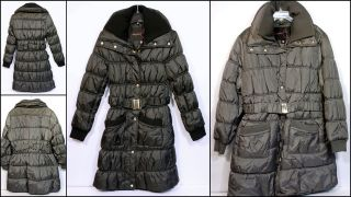 BABY PHAT COAT W/BELT & DOUBLE COLLAR STYLE 1338BP