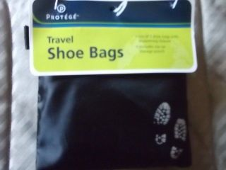 Nylon Shoe Bags + Storage Pouch Travel Shoes Bag Carriers Black NEW