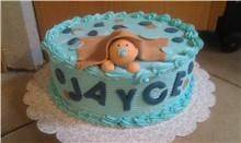 BABY SHOWER CAKE TOPPER DECORATION FONDANT