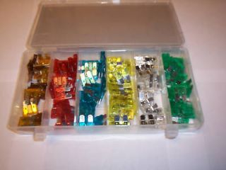 120pc AUTOMOTIVE CAR BLADE FUSE BOX ASSORTMENT FUSES