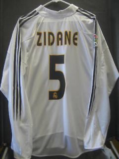 NWT Authentic Adidas 2002 Real Madrid Zidane Champions League Jersey L