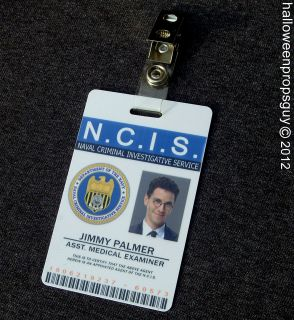 NCIS Assistant Medical Examiner Jimmy Palmer PVC ID Card Badge