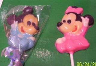 Baby Mickey Mouse Chocolate Lollipops Favors