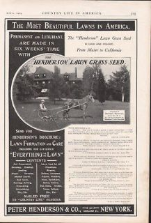 FP 1904 HENDERSON LAWN CARE EQUIPMENT GRASS SEED WORKING FARM HORSE