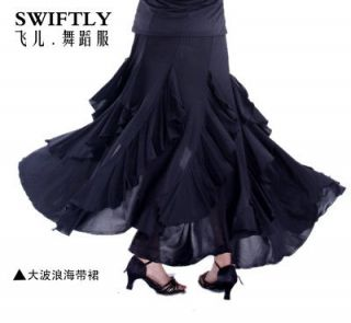 Latin salsa flamenco Ballroom Dance Dress #M073 skirt