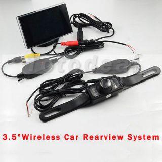 TFT LCD Car Rear view Monitor waterproof Reverse backup Camera Kit