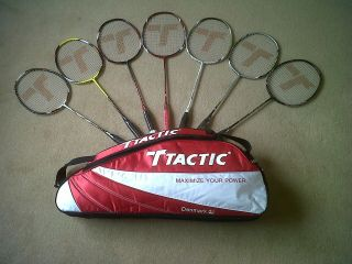 TACTIC BADMINTON RACKETS WITH YONEX STRING & FREE GIFT   UK SELLER