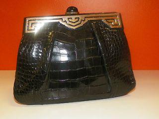 JUDITH LEIBER Vintage French CROCODILE Clutch Handbag