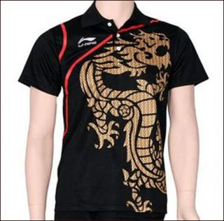 LiNing 2012 London Olympic Li Ning Mens Badminton/Table Tennis Shirt
