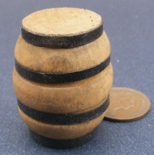 pirate series TINY small wooden barrel toy green color geobra 111