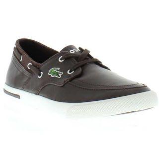 Lacoste Shoes Genuine Newton Boat CI Spm Mens Brown White Sizes UK 7