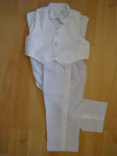 Baby Boy & Toddler Christening Baptism Formal Vest Suit white sz0M  4