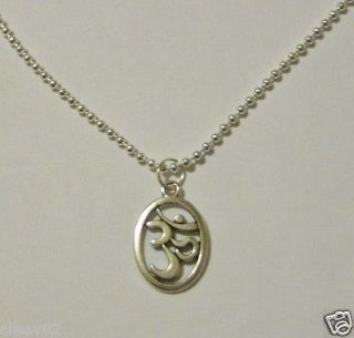 OM AUM Symbol on a 1.5mm Ball Chain Necklace ~ Buddhism Hinduism