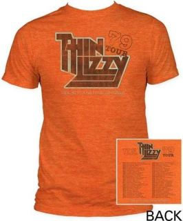 Thin Lizzy 79 Tour Concert Tour Rock Vintage Licensed Tee Adult T
