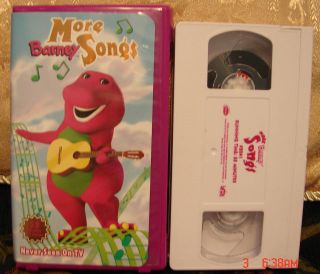 More Barney Songs VHS Video~Actimates Compatible $3 Ships 1 & $5 Ships