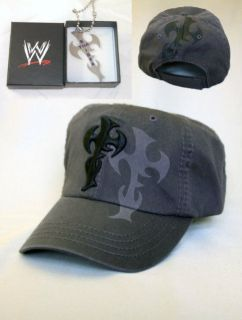 Jeff Hardy Engima Baseball Cap Hat Pendant Necklace Bundle New