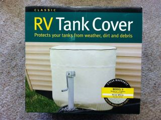 LP Propane Tank Cover, Model 3, Snow White, Vinyl, For Double 30 Tanks