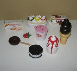 Queen Pretend Play Food Ice Cream DQ Banana Split, Dilly Bar, Shake