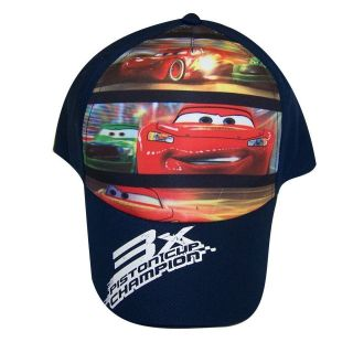 Lightning Mcqueen Baseball Cap Hat   3x Piston Cup Champion DCS227ST