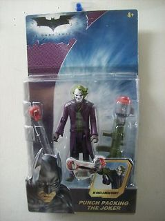THE DARK KNIGHT BATMAN HEATH LEDGER PUNCH PACKING THE JOKER FIGURE