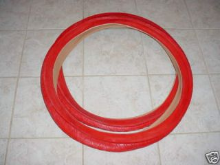BICYCLE TIRES RED FOR CRUZER BEACH BIKES BALLOON TIRES